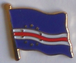 Cape Verde Country Flag Enamel Pin Badge